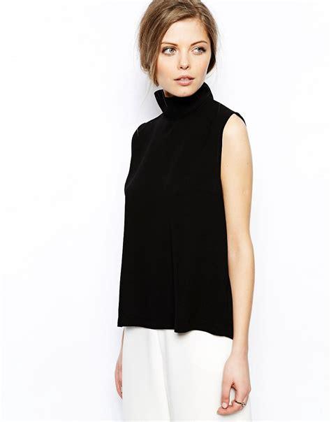 high neck blouse asos asos high neck sleeveless top at asos