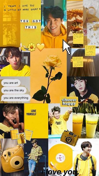 Bts Aesthetic Yellow Iphone Wallpapers Celebrities Quotes