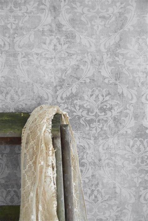 Tapete Schlafzimmer Grau by Vintage Tapete Grau Gemustert Die Feenscheune Tapeten