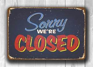 Closed Sign-Open Sign-Double sided Classic Metal Signs