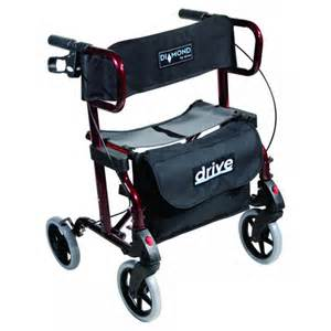 drive diamond deluxe rollator transport chair relimobility
