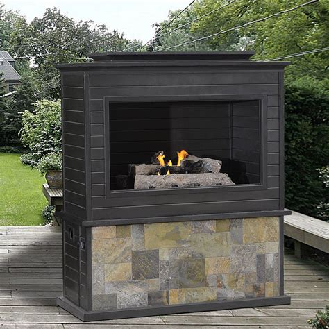 stacked fireplace installation sunjoy d of005pco lp gas fireplace lowe 39 s canada