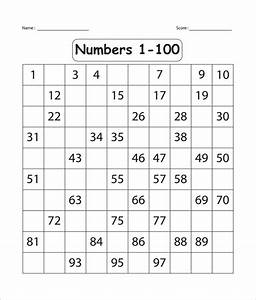 Missing number worksheets missing number worksheets for Template for numbers 1 100