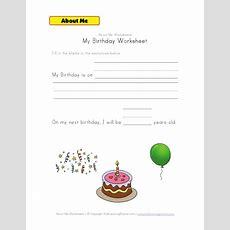 My Birthday Worksheet  Kindergarten  All About Me Worksheet, All About Me Preschool, Worksheets