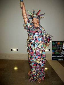 Statue Of Liberty Made Out Of Recycled Materials Girl