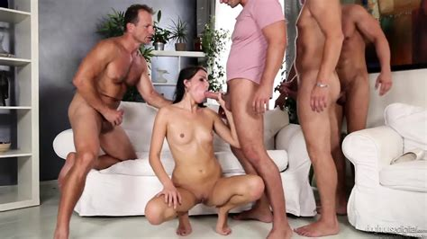 Orgy With Horny Brunette Eporner