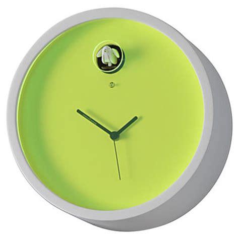 horloge murale plex 224 coucou cadre blanc cadran vert diamantini domeniconi