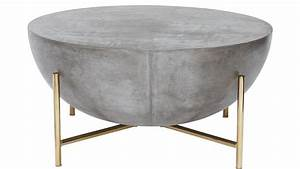 fuze gray cement bistro table With sphere coffee table