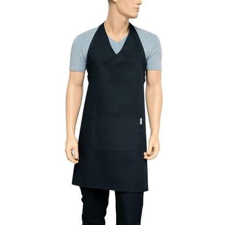 tablier de cuisine noir metro fr tablier de cuisine col v noir