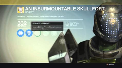 not forsaken destiny armor an insurmountable skullfort