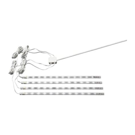 dioder led 4 piece light strip set ikea