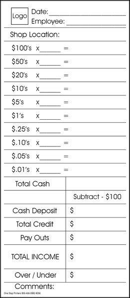 cash drawer   day peel  seal envelope