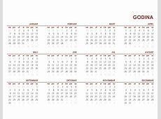 Globalni kalendar za celu godinu Office Templates