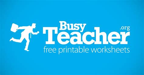 busyteacher  printable worksheets  busy english