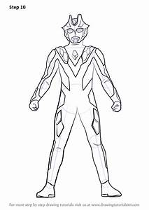 Learn How To Draw Ultraman Xenon  Ultraman  Step By Step   Drawing Tutorials