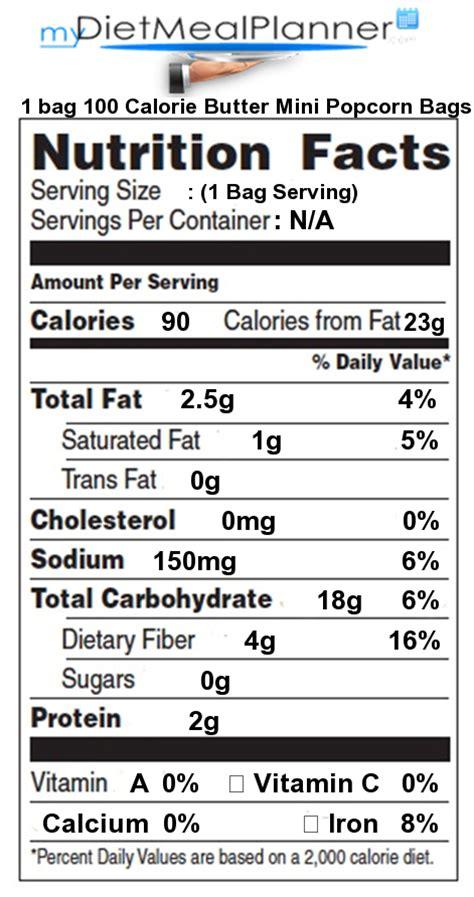 Pumpkin Spice Latte Mcdonalds Calories by Nutrition Facts Label Snacks 1 Mydietmealplanner Com