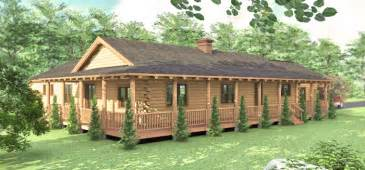ranch style log home floor plans home plans one story log cabins ranch style single cabin homes best free home design idea
