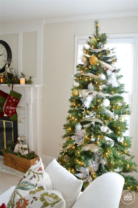 gold tipped christmas tree tree decor