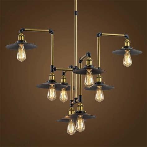 large industrial chandelier industrial style 8 light large led pendant chandelier