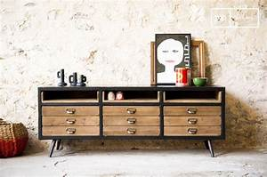 Meuble Scandinave Vintage : enfilade scandinave le meuble vintage tendance ~ Teatrodelosmanantiales.com Idées de Décoration