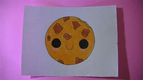 como dibujar pintar una galleta kawaii semana comida kawaii