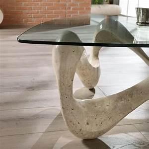 Table Basse En Verre Pas Cher : table basse de design en verre et pierre fossile tetris ~ Preciouscoupons.com Idées de Décoration