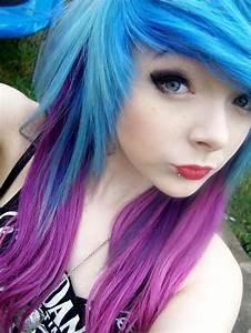 blue and purple hair   Scene Girls and Boys   Pinterest