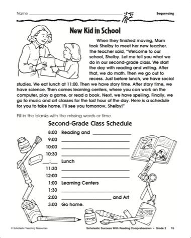 sequence of events worksheets for 1st grade the best