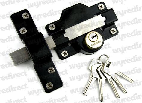 mm long throw gate lock double locking  keys stainless