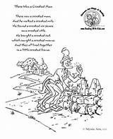 Nursery Rhyme Crooked Coloring Pages Rhymes There Printable Preschool Lyrics Poems Activities Printables Crafts Poem Colouring Rhyming English Worksheets Children sketch template