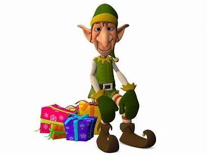 Elf Christmas Presents Sitting Illustrations