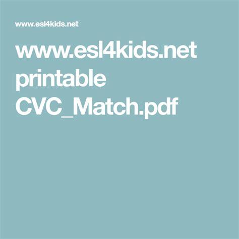 wwweslkidsnet printable cvcmatchpdf  images