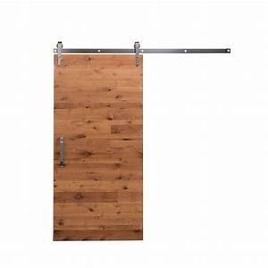 rustica hardware 36 in x 84 in rustica reclaimed clear With barn door hinges home depot