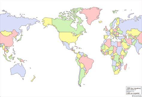 Carte Vierge Du Monde Avec Pays by Carte Du Monde Vierge En Couleur 187 Carte Du Monde