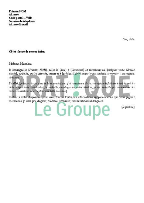 modèle lettre désistement chèque lettre de renonciation pratique fr