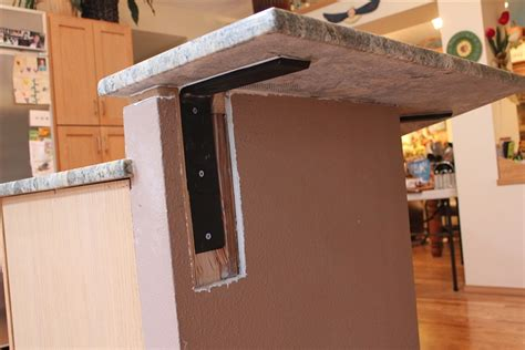 floating granite countertop brackets supports for granite countertop overhang wolofi com