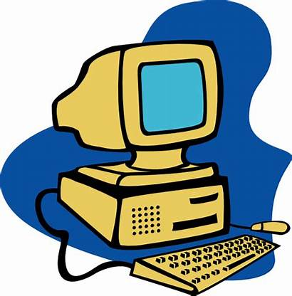 Computer Clip Yellow Clipart Cliparts Clker Royalty