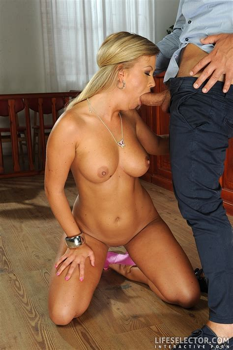 Lusty Blonde Milf In Short Dress And No Pan Xxx Dessert Picture 10