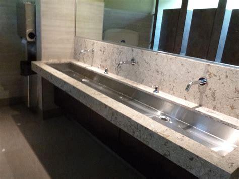 White Granite And Steel Undermount Double Trough Sink