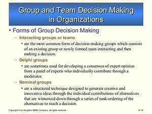 Griffin types of decision making