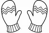 Clipart Mittens Outline Mitten Printable Winter Coloring Gloves Webstockreview Sanfranciscolife Explore sketch template