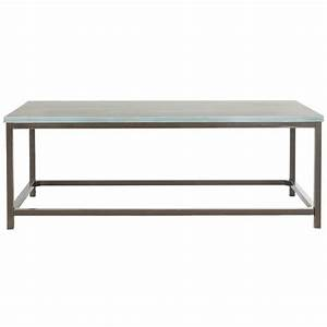 safavieh alec steel blue coffee table amh6545b the home With blue metal coffee table