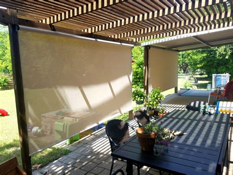 exterior patio roller shades solar screens by josh tx
