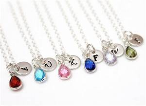 Necklace Personalized Birthstone Necklace, August ...
