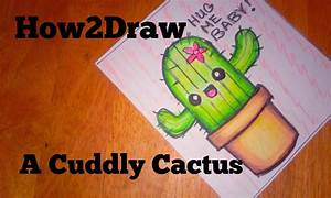 How to draw ~ A Cute cuddly Cactus. David needs a Bae ...