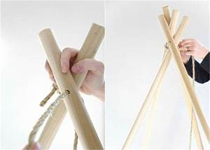 Tipi Zelt Bauen : schritt 2 stangen binden und tipi zelt selber bauen gute ideen tipi zelt zelt ~ Frokenaadalensverden.com Haus und Dekorationen