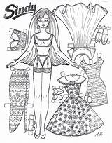 Paper Doll Barbie Dolls Printable Sindy Coloring Pages Sheets Marlendy Wordpress sketch template