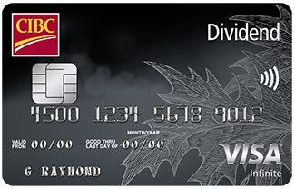 dividend visa credit cards cibc