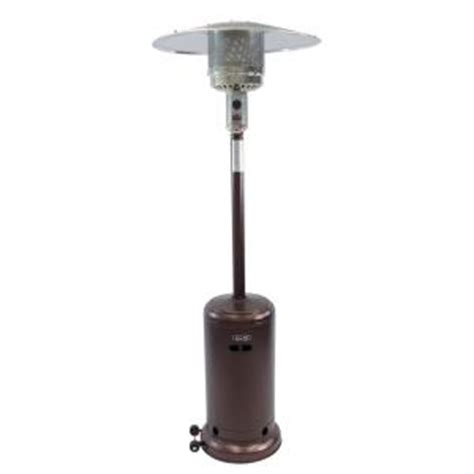 home depot patio heater dyna glo 41 000 btu deluxe hammered bronze gas patio