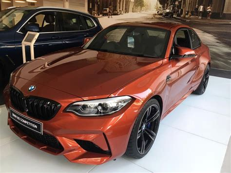 bmw m2 competition reaches dealerships in india live images